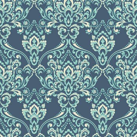 Vector floral wallpaper. Classic Baroque floral ornament. Seamless vintage pattern. Illustration
