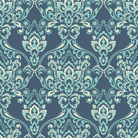Vector floral wallpaper. Classic Baroque floral ornament. Seamless vintage pattern. Illustration