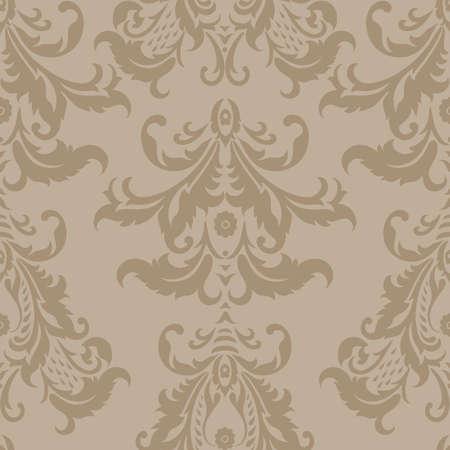 다 마스크 꽃 무늬 벽지, 빈티지 벡터 원활한 패턴 일러스트
