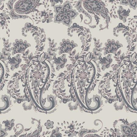 Folkloric Batik vector ornament. Paisley Floral seamless pattern. Stock Vector - 96125545