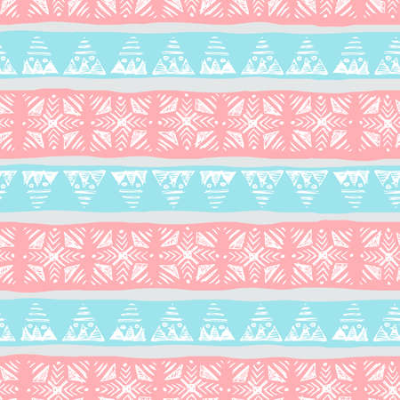 Abstract seamless pattern. hand drawn ethnic vector background. Ilustrace