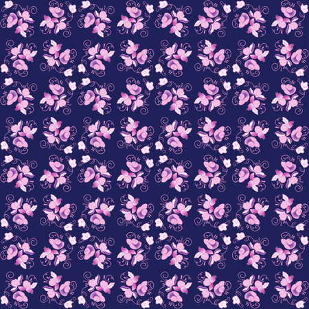 Floral seamless pattern colorful vector background Illustration