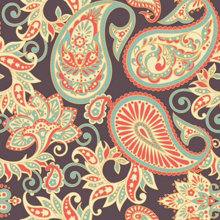 paisley seamless pattern. floral vector background