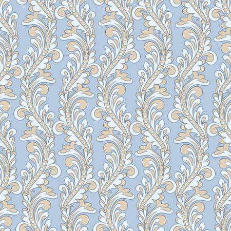 Seamless vintage baroque pattern. Vector background