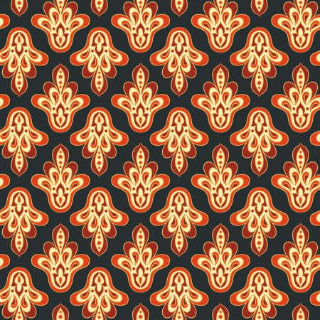 Seamless vintage background. Vector background for textile design Ilustração