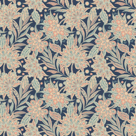 Vintage Floral pattern design Illustration