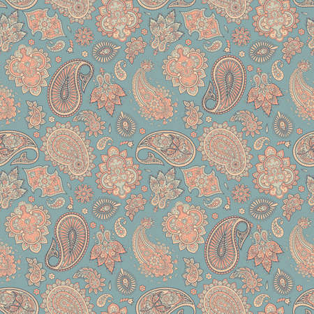 Floral pattern with paisley ornament