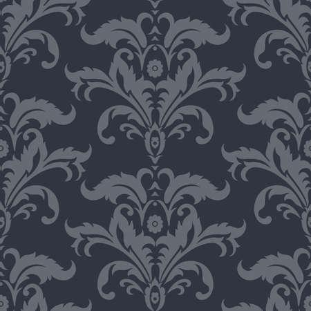 Vector Baroque floral pattern. classic floral ornament. vintage texture for wallpapers, textile, fabric Çizim