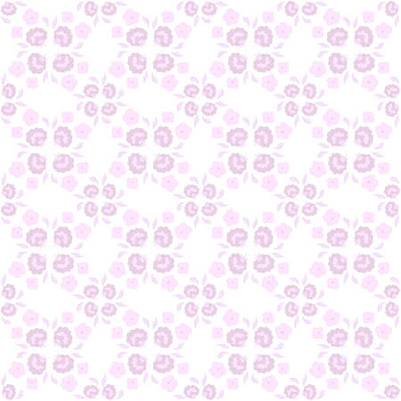 Cute floral seamless pattern in color pink.