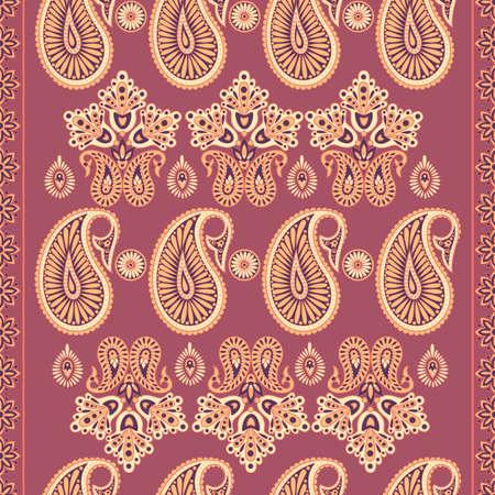 Paisley vintage pattern in indian batik style.