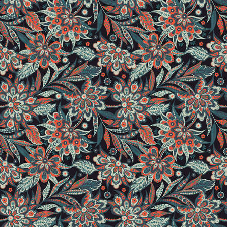 Vintage Vector Floral seamless pattern Illustration