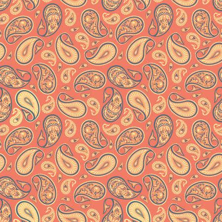 Paisley textile Pattern Indian design illustration
