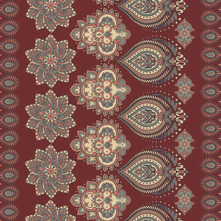 Floral oriental ethnic background