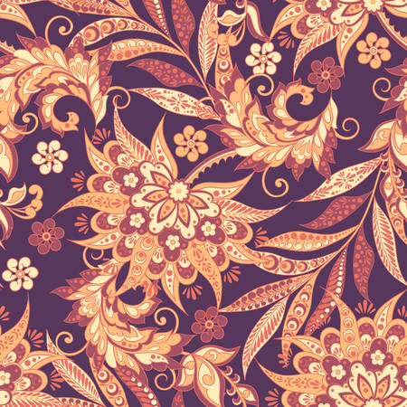 Vintage Vector Floral seamless pattern illustration.