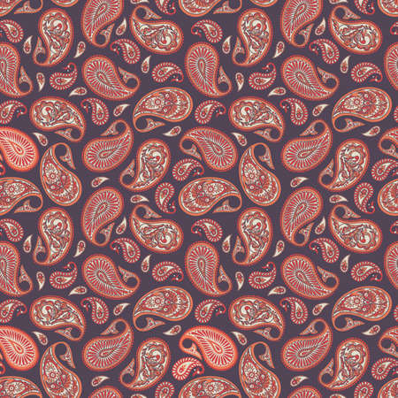 Paisley Seamless Pattern. Indian style colorful vector ornament. Illustration