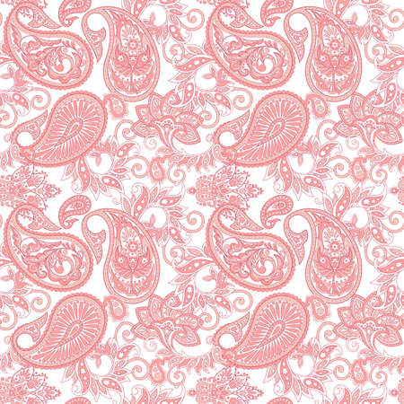 Paisley Floral ornamental Pattern. Seamless Arabic Ornament. Ornamental motifs of the Indian fabric patterns.