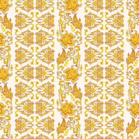Damask style seamless floral pattern
