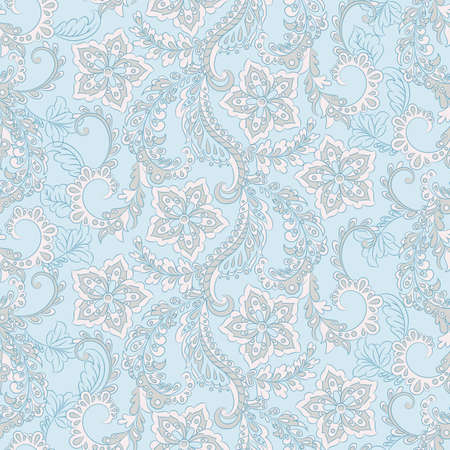 Vintage floral seamless pattern. Ethnic vector background Illustration
