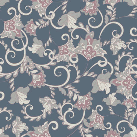 Vintage floral seamless pattern. Vector wallpaper Stock Vector - 123665448