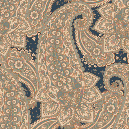 Paisley seamless pattern. Vintage background in Damask style