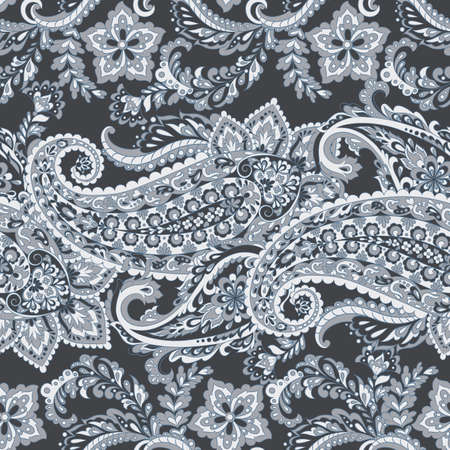 Paisley seamless vector pattern. floral vintage background