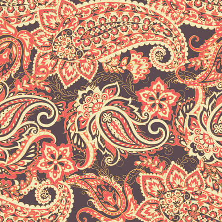 Paisley Damask ornament. Seamless Vector pattern Stock Illustratie