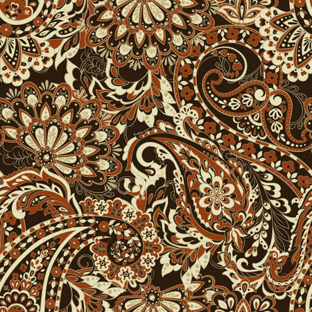 Damask style Seamless pattern. Floral vector wallpaper Illustration