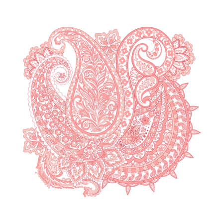 paisley isolated pattern. damask vector illustration