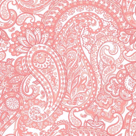 Paisley Ornamental seamless pattern.