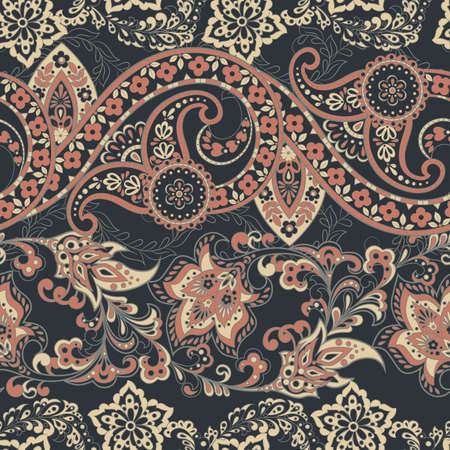 Paisley seamless pattern. Ethnic vector background