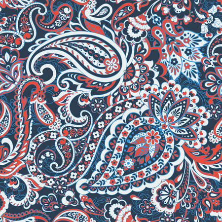 Paisley Floral ethnic Pattern. Vintage vector background