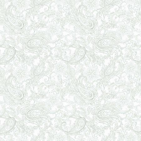 Paisley Pattern. Seamless Asian Textile Background Stock Illustratie