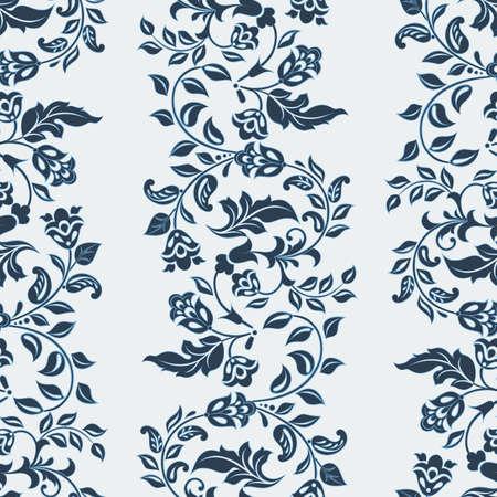 Beautiful vintage pattern. Floral vector background Illustration