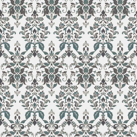 Damask seamless floral pattern. Seamless vector wallpapers