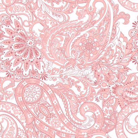 Paisley Pattern. Seamless Asian Textile Background Illustration