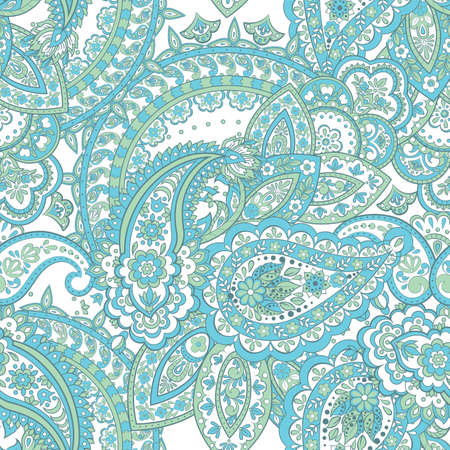 Damask paisley seamless pattern. Ethnic vector background