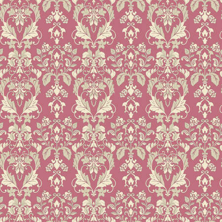 vintage floral seamless patten. Classic Baroque wallpaper. 向量圖像