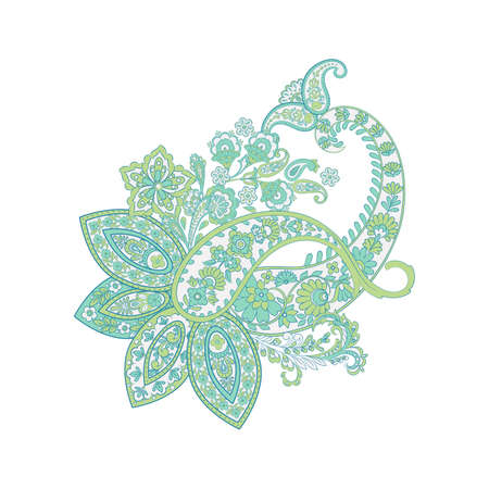 Isolated Paisley pattern in indian style Illustration
