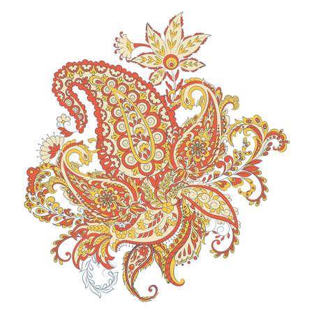 Paisley Damask ornament. Isolated Vector illustration Illustration