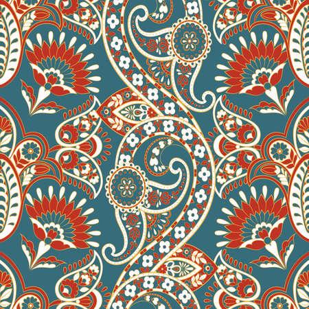 Ornate floral damask background. Vector vintage pattern Illustration