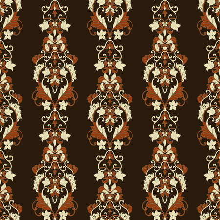 Seamless floral vintage background. Vector wallpaper