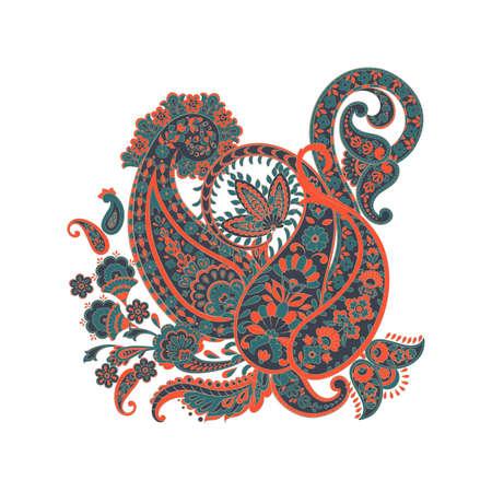 Ornate damask Paisley ornament. Vector vintage illustration Illustration