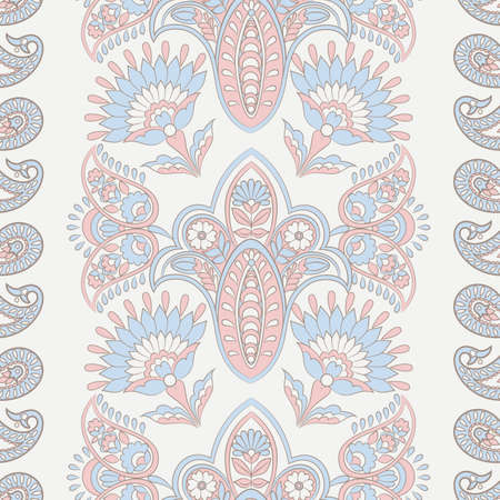 Seamless floral vintage pattern. Vector background for textile design