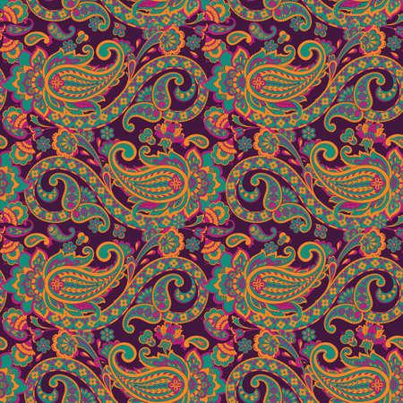 Naadloze bloemen vectorillustratie met paisley patroon Vector Illustratie