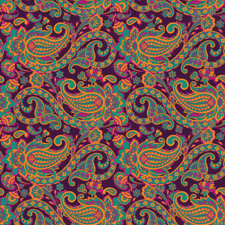 Seamless Floral vector illustration with paisley pattern