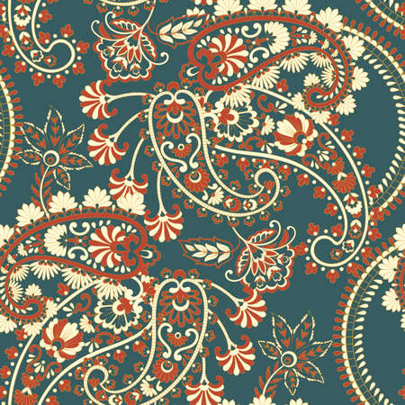 Paisley seamless pattern. Vintage background in batik style Stock Vector - 122655688