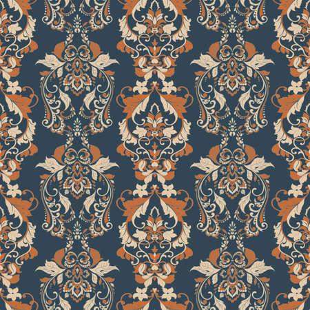 vintage wallpaper. Vector floral seamless pattern Ilustrace