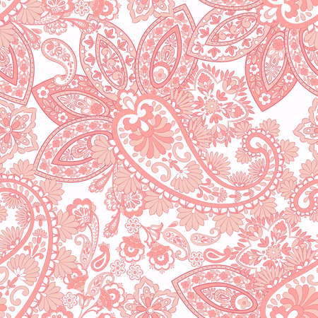 Seamless pattern with paisley ornament. Ornate floral decor. Vector illustration Stock Vector - 122655758