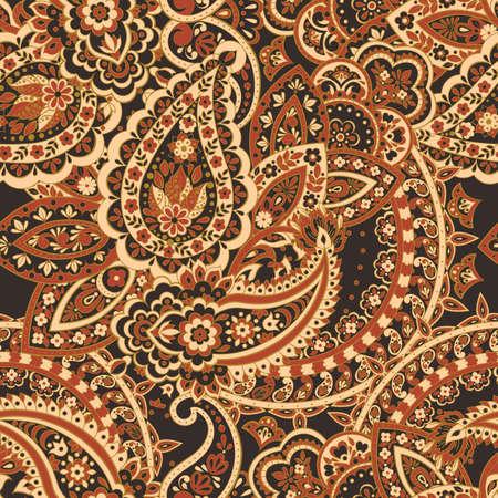 Damask paisley seamless pattern. Ethnic vector background