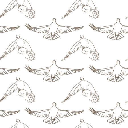 Patrón sin fisuras de aves voladoras. Vector de fondo